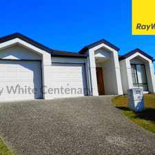 Rental info for RIVERHILLS NEW HOME AREA - 4 BED. 2 BATH. DBL GAR. AIR CON. WELL PRICED in the Bellbowrie area