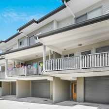 Rental info for Gorgeous Townhouse in Top Location in the Brisbane area