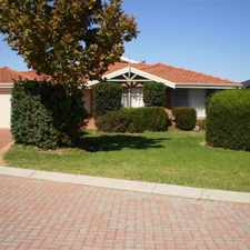 Rental info for HOME OPEN MONDAY 18TH SEPTEMBER 3.00PM-3.15PM - RENT REDUCED $400PW in the Atwell area