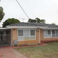 Rental info for Neatly presented three bedroom home
