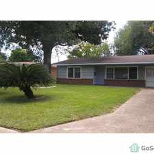 Rental info for 2 Bed 1 Bath kitchen , dinning room, full bathroom, washer and dryer connections 1 car garage, in the Texas City area