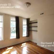 Rental info for 414 E Lanvale St in the Greenmount West area