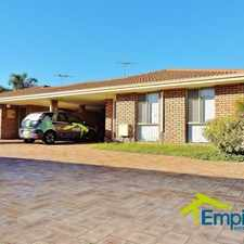 Rental info for 3 x 1 in quiet complex in the Perth area