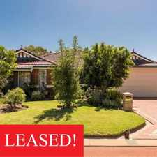 Rental info for LEASED BY CENTURION! MORE PROPERTIES WANTED!! in the Perth area