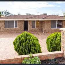 Rental info for Spacious home, huge outdoor great fro entertaining! in the Coolbellup area