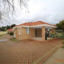 Rental info for STREET FRONT VILLA - CLOSE TO CURTIN UNI