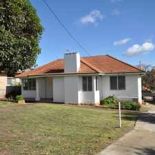 Rental info for THREE BEDROOM, ONE BATHROOM CHARACTER FAMILY HOME in the Perth area