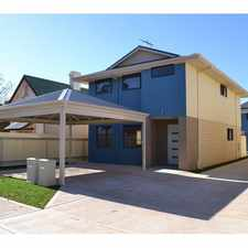 Rental info for BRAND NEW 4X2 TOWNHOUSE in the Kalgoorlie area