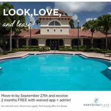 Rental info for Portofino Place Apartments by Cortland