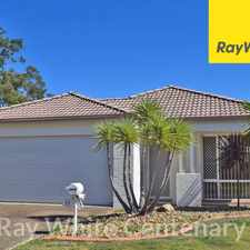 Rental info for 3 BED. 2 BATH. 2 LIVING AREAS. DBL GARAGE. AIR CON. in the Brisbane area