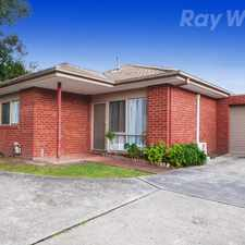 Rental info for NO ORDINARY UNIT.. in the Melbourne area