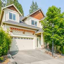 Rental info for BRIGHT and AIRY CENTRALLY LOCATED WOODINVILLE BEAUTY in the Cottage Lake area