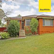 Rental info for Great 3 bedroom home in heart of Campbelltown in the Sydney area