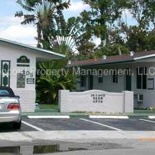 Rental info for **RENT SPECIAL** Great 1 bedroom Apartment near 17th Street & Federal Highway in the Fort Lauderdale area