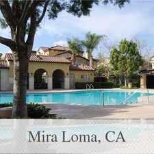Rental info for BEAUTIFUL 3 B/ 21/2 B TOWNHOUSE IN THE SERAFINA... in the Mira Loma area