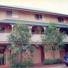 Rental info for ASHGROVE TOWNHOUSE in the Brisbane area