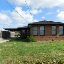 Rental info for 3 BEDROOM ON LARGE BLOCK! WALKING DISTANCE TO PUBLIC TRANSPORT! in the Lalor area