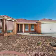 Rental info for 4 BEDROOM HOUSE IN WESTLAKES in the Melton area
