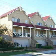 Rental info for FREMANTLE TOWNHOUSE DOUBLE GARAGE in the North Fremantle area