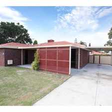 Rental info for Freshly Painted with Modern Kitchen in the Gosnells area