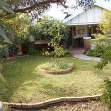 Rental info for 3 X 1 NORTH PERTH CHARACTER HOME WITH DELIGHTFUL GARDEN, PET FRIENDLY