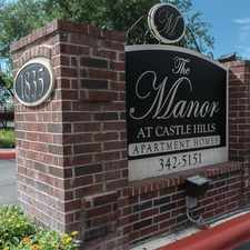 Rental info for Manor at Castle Hills in the San Antonio area