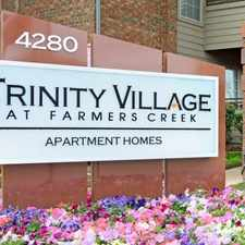 Rental info for Trinity Village at Farmers Creek in the Dallas area