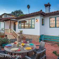 Rental info for 870 Paseo Ferrelo Road in the 93101 area