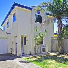 Rental info for SPACIOUS TOWNHOUSE IN GREAT LOCATION in the Melbourne area