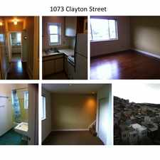 Rental info for 1073 Clayton Street in the Ashbury Heights area