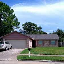 Rental info for 7431 La Place Drive in the Houston area