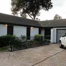 Rental info for 4903 Cairnleigh Drive in the Houston area