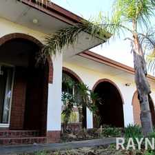 Rental info for Family Home On A Large Block in the Perth area