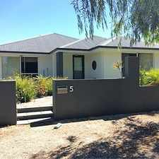 Rental info for FAMILY HOME IN QUIET LOCATION in the Busselton area