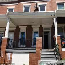 Rental info for Spacious 3BR/ 1BA home for rent in West Baltimore. in the Northwest Community area