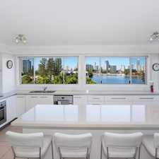 Rental info for Top Floor Unit With Waterfront Location in the Surfers Paradise area