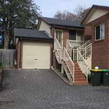 Rental info for Wonderful Three Bedroom Townhouse
