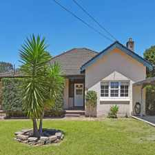 Rental info for Charming 2 bedroom half house in the Hornsby area