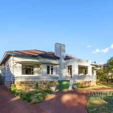 Rental info for LEASED OFF MARKET in the Cottesloe area