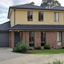 Rental info for QUALITY TOWNHOUSE IN SUPERB LOCATION in the Melbourne area