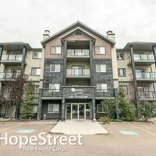 Rental info for 1204 156 Street NW - 2 Bedroom Apartment for Rent in the Terwillegar South area