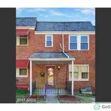 Rental info for Beautiful Townhome in Baltimore City in the Cedmont area