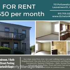 Rental info for 113 A Pottawatomie in the Leavenworth area