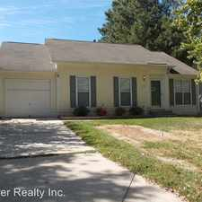 Rental info for 103 Coventry Drive in the Indian Trail area