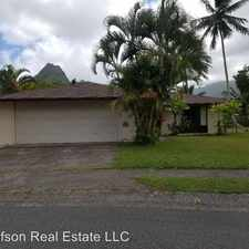 Rental info for 1040 Lunaai Place in the Honolulu area