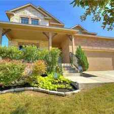 Rental info for 400 Stone View TRL Austin, Ryland Five BR home with master in the Austin area