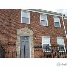 Rental info for Owner pays for water in this Large 1 Bedroom, 2nd Floor Apt, with Central Heat and Air, H/W Floors throughout, freshly painted, built-in microwave, in the Baltimore area