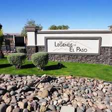 Rental info for The Legends Of El Paso in the Riverbend area