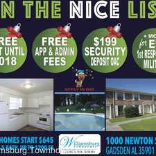 Rental info for 1003 Newton St. 2A