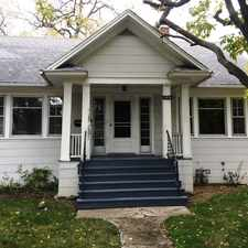 Rental info for DES PLAINES~WALK TO TOWN AND TRAIN~CHARMING CAPE COD WITH HUGE YARD!